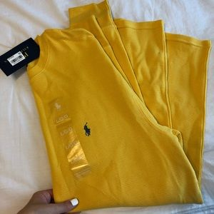 NWT Yellow Polo Ralph Lauren long sleeve